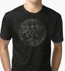 Camiseta de tejido mixto Círculo de transmutación humana - tiza