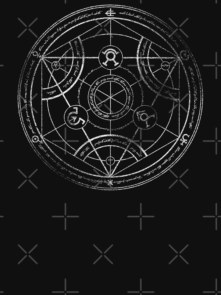 Human Transmutation Circle Chalk Unisex T Shirt By Revolutiongfx