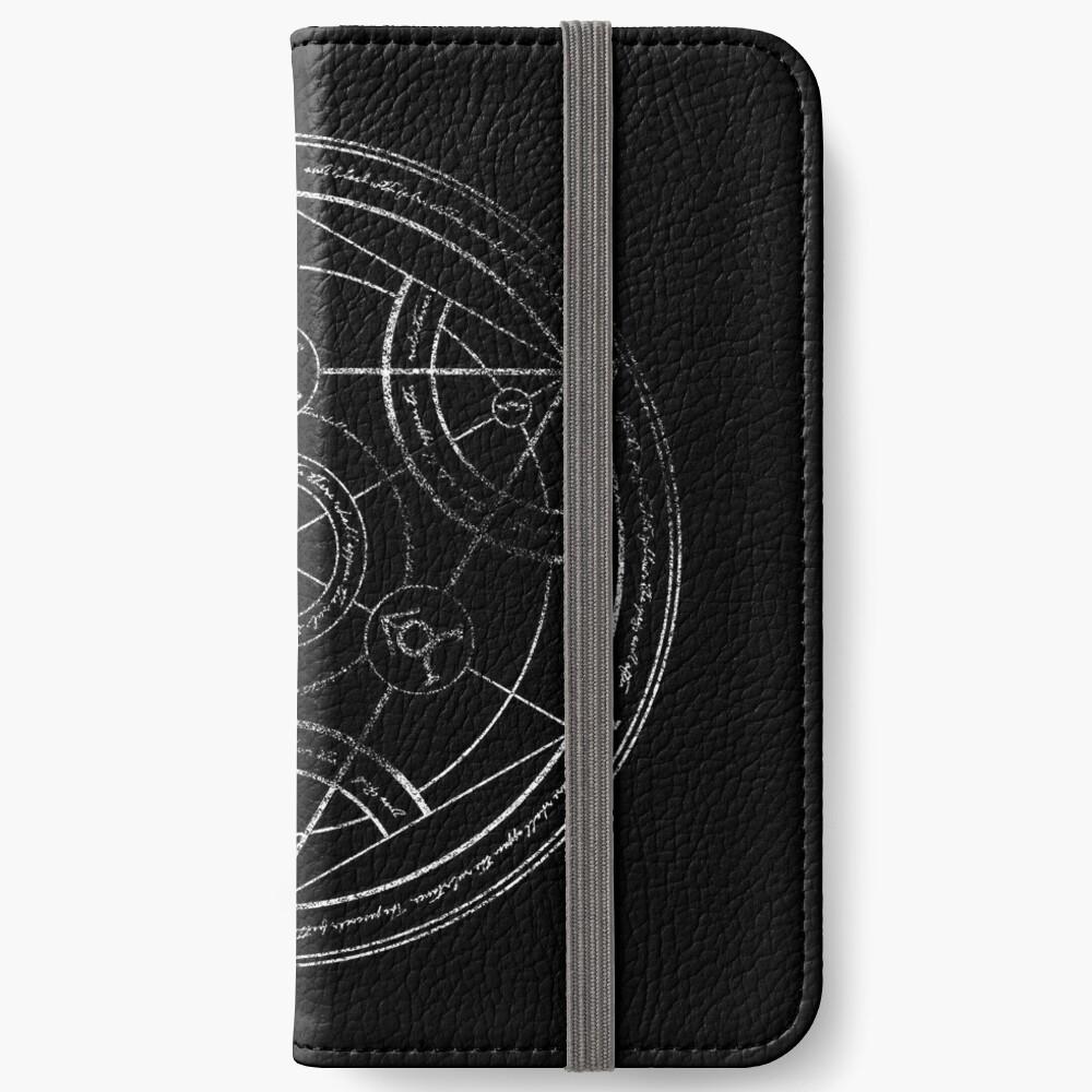 Human transmutation circle - chalk iPhone Wallet