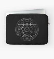 Menschlicher Transmutationskreis - Kreide Laptoptasche