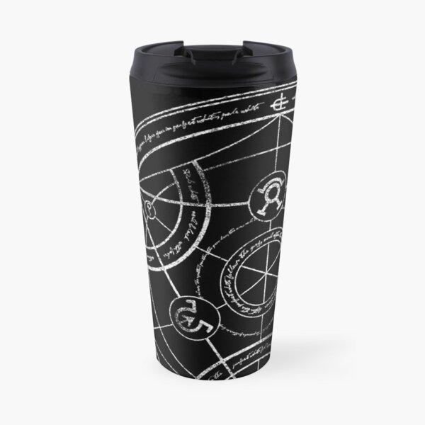 Human transmutation circle - chalk Travel Mug