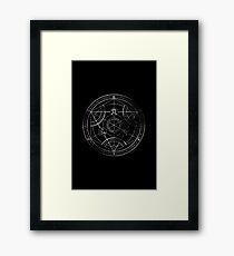 Human transmutation circle - chalk Framed Print