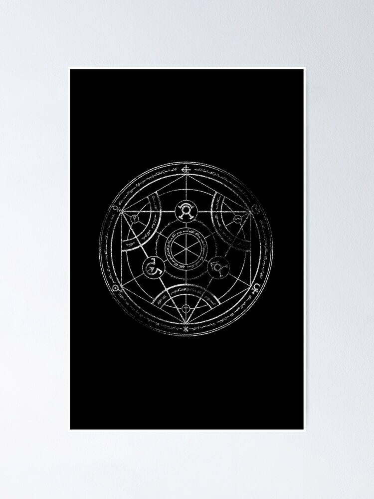 Alternate view of Human transmutation circle - chalk Poster