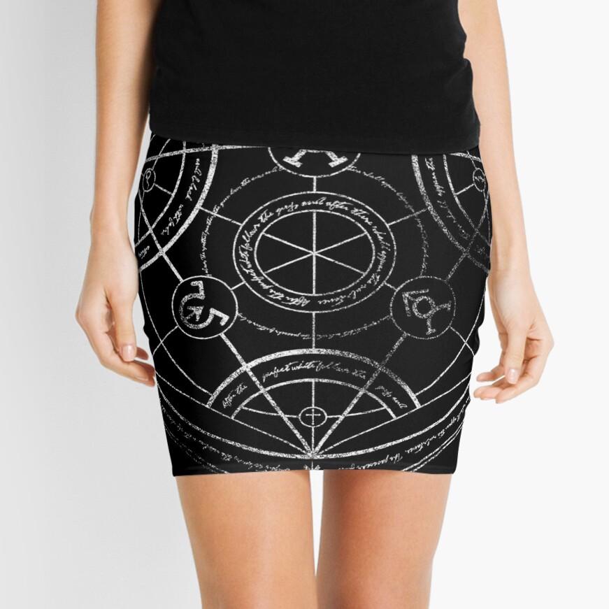 Human transmutation circle - chalk Mini Skirt