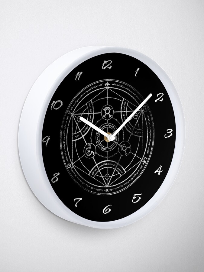 Alternate view of Human transmutation circle - chalk Clock