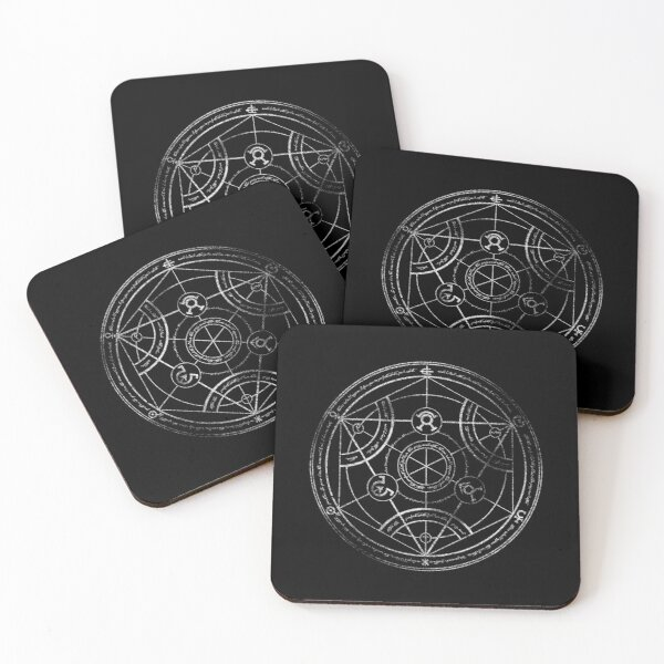 Human transmutation circle - chalk Coasters (Set of 4)