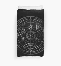 Human transmutation circle - chalk Duvet Cover