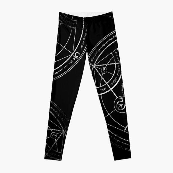 Human transmutation circle - chalk Leggings