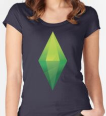 The Sims Plumbob T-Shirt Women's Fitted Scoop T-Shirt