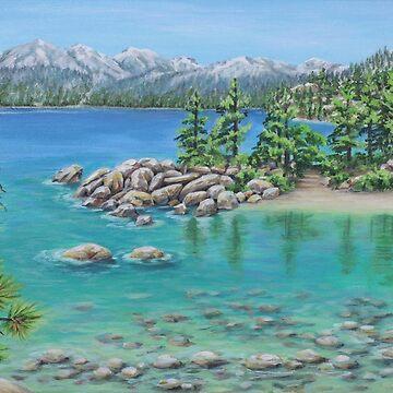 Sand Beach Lake Tahoe by janegirardot