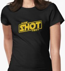 Han Shot First Women's Fitted T-Shirt