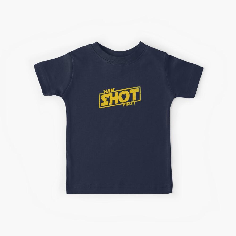Han Schuss zuerst Kinder T-Shirt
