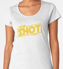 Camiseta premium para mujer Han Shot primero