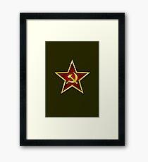 Soviet Gold Star Framed Print