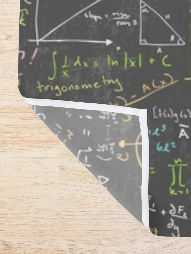 Alternate view of Math Lessons Shower Curtain