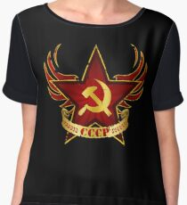 CCCP Army Women's Chiffon Top