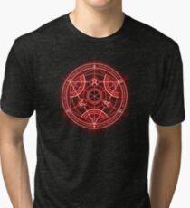 Human Transmutation Circle - Red Tri-blend T-Shirt