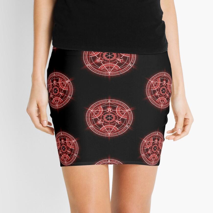 Human Transmutation Circle - Red Mini Skirt