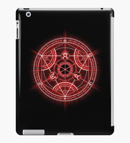 Human Transmutation Circle - Red iPad Case/Skin