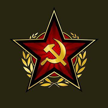 Russischer roter Stern von RevolutionGFX