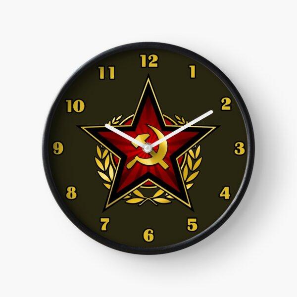 Russian Red Star Clock