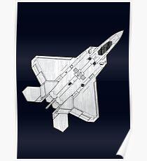 F 22 Stealth Fighter Jet Poster