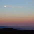 Moonset On The Mountain by Asoka