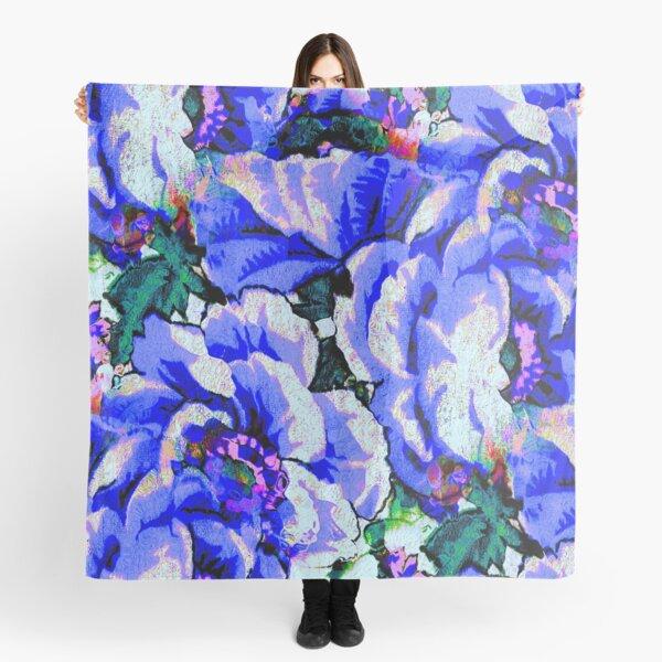 Blue Flowers Scarf