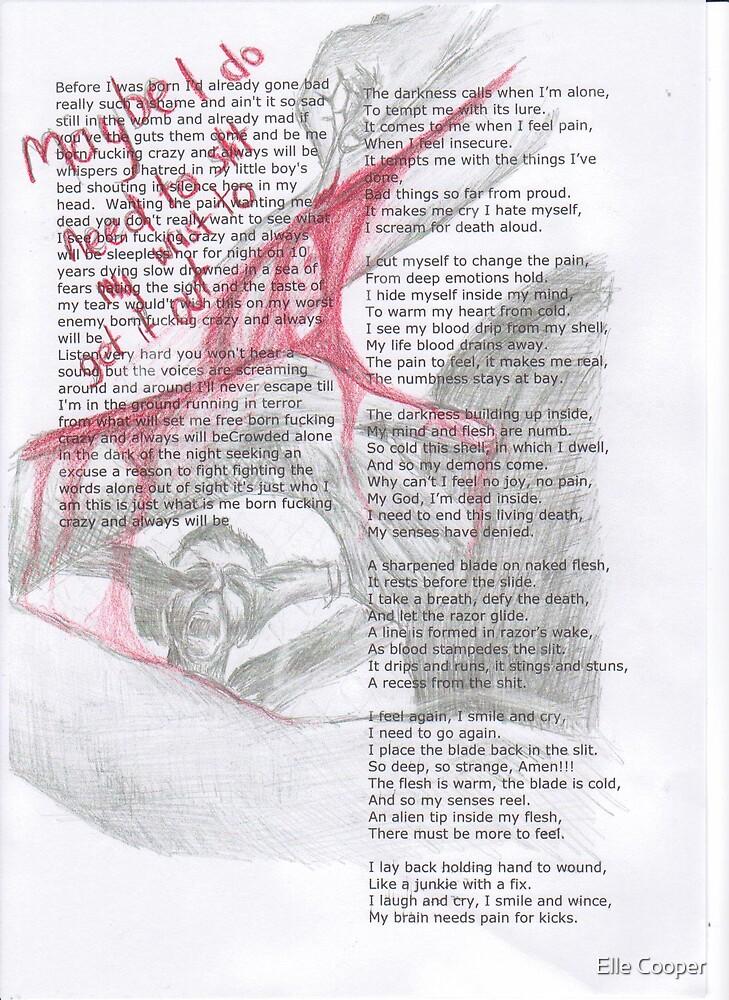 Schizophrenia art by Elle Cooper