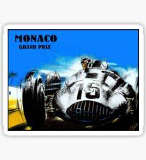 MONACO : Vintage Grand Prix Auto Racing Print Sticker