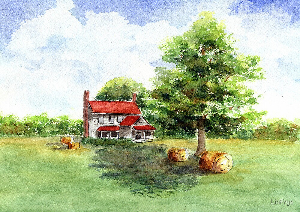 Barn and Shade by LinFrye