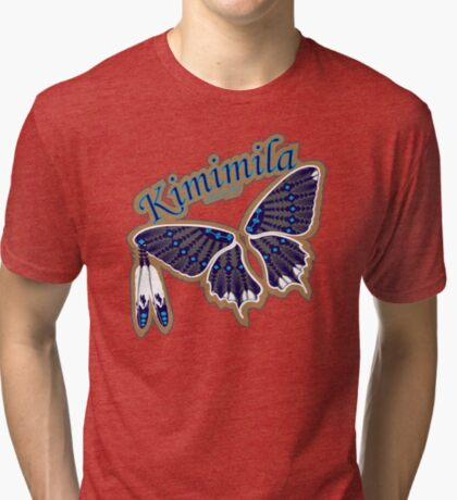 Butterfly Nation Blue Tri-blend T-Shirt