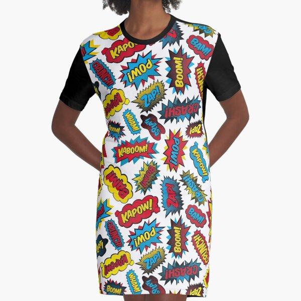 Super Words! Graphic T-Shirt Dress