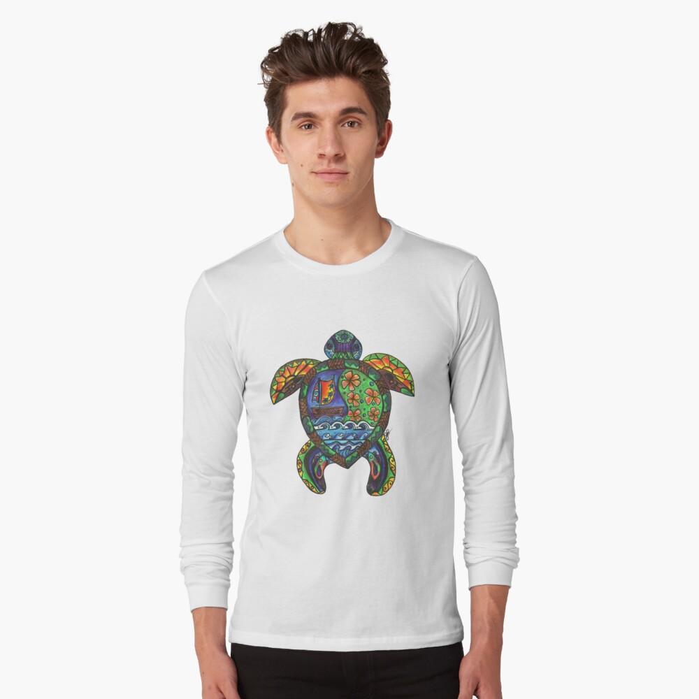 Hawaii State Flag Sea Turtle Children Boys Girls Long Sleeve Sweatshirt Pullover Hoodie 2-6T