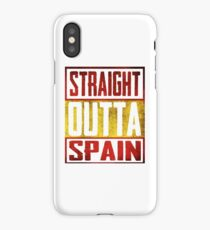 Straight Outta Spain iPhone Case/Skin