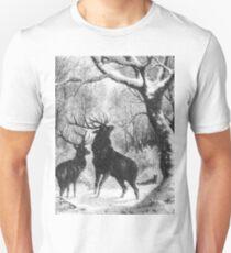 Black and White Winter Bucks T-Shirt