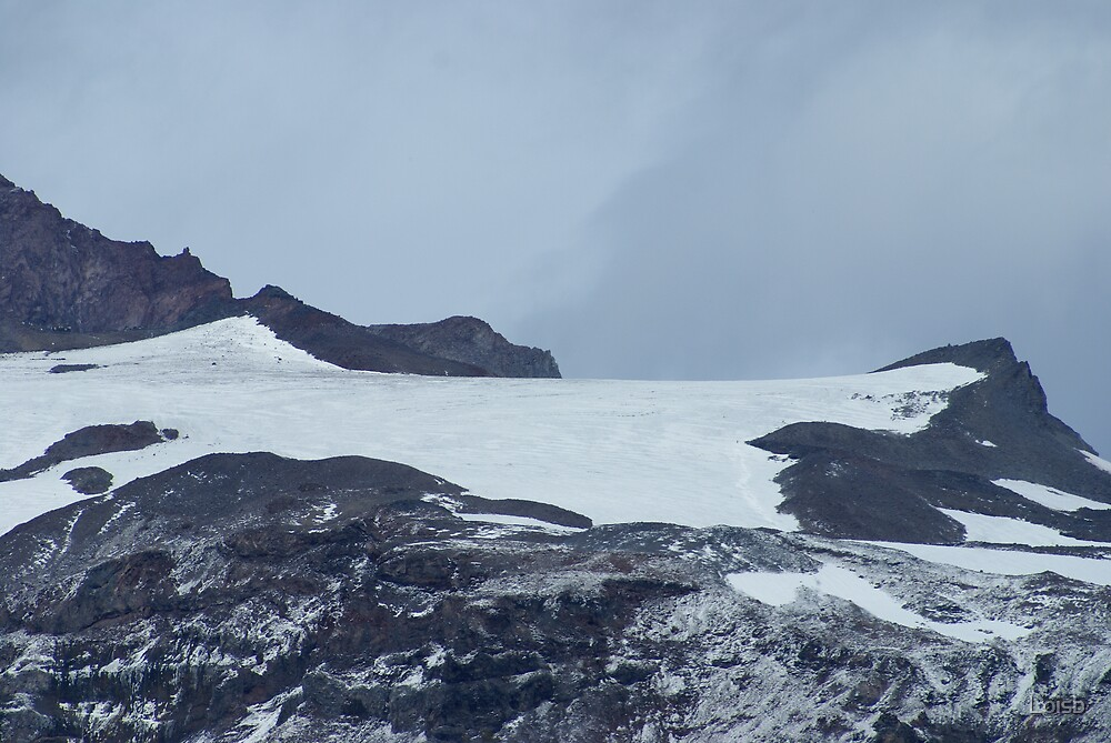 Camp Muir from a Distance by Loisb