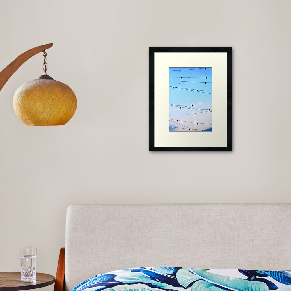 Right then a  few ideas occured to me whilst daydreaming of flying home finding harmony Framed Art Print