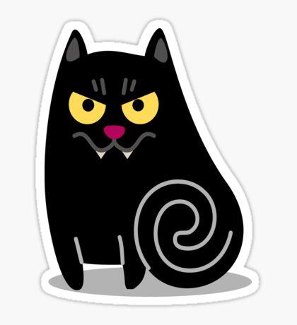 Spookilicious Vampire Cat! Sticker