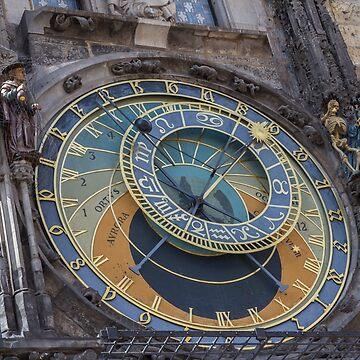 Prague Astronomical Clock in Prague by josefpittner
