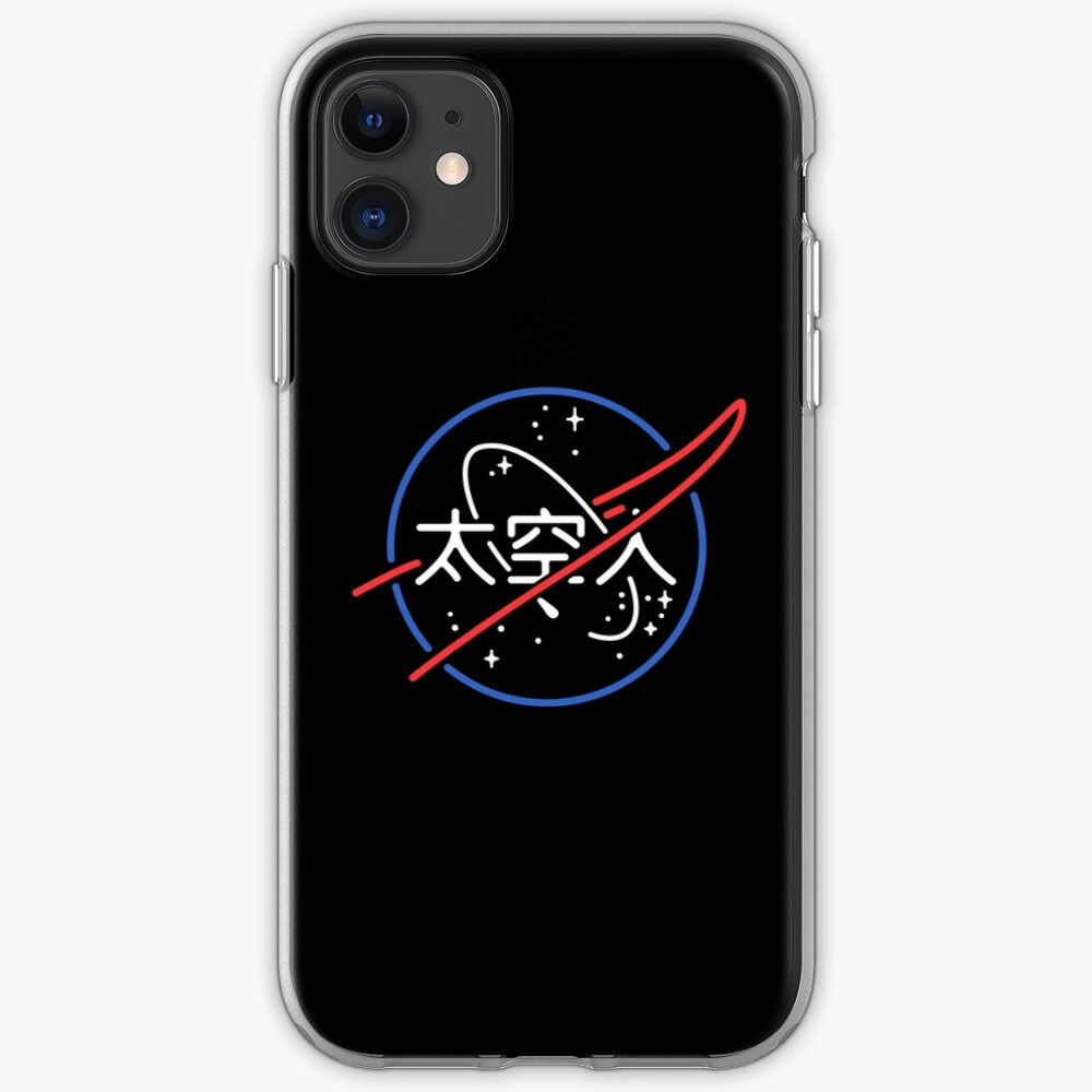 NASA Aesthetic Japanese Neon Logo  iPhone Case & Cover