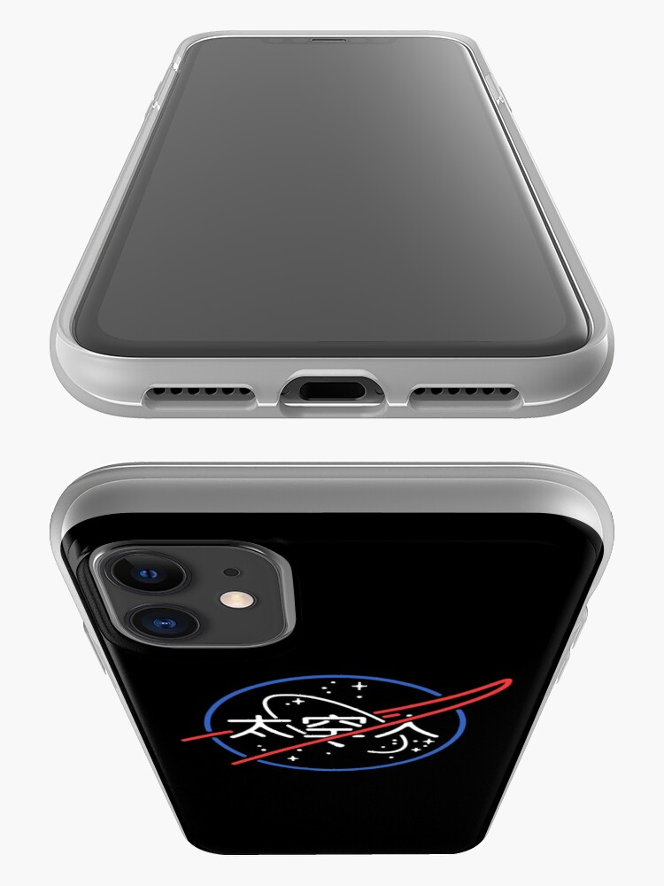 Alternate view of NASA Aesthetic Japanese Neon Logo  iPhone Case & Cover