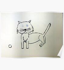Cat - Chat de Martin Boisvert Poster