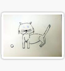 Cat - Chat de Martin Boisvert Sticker