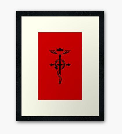 Fullmetal Alchemist Flamel - Black Framed Print