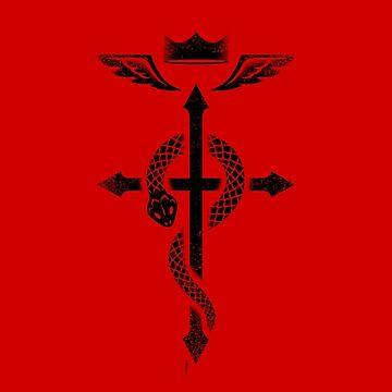 Fullmetal Alchemist Flamel - Black by RevolutionGFX
