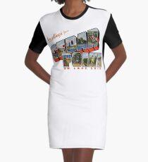 Grüße aus Cedar Point am Lake Erie T-Shirt Kleid