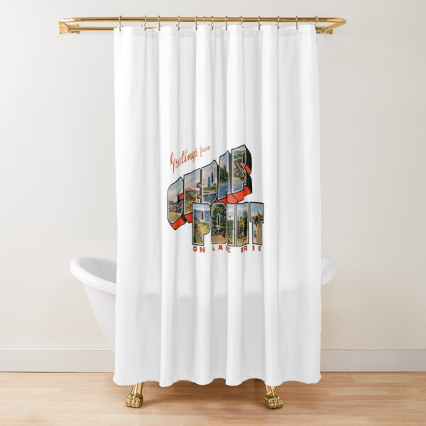 Greetings from Cedar Point on Lake Erie Shower Curtain