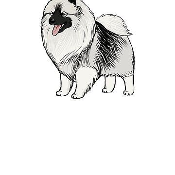 Keeshond Cartoon Dog by ShortCoffee