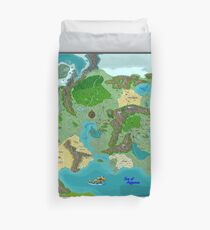 SOLAR Map of the Sutherlands Full Color Duvet Cover